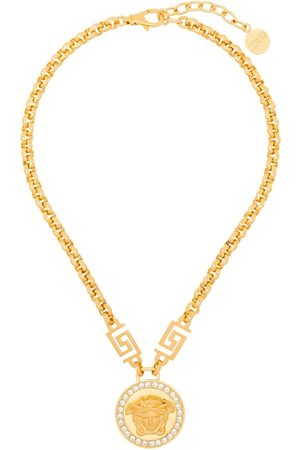 VERSACE Women Necklaces - Icon Medusa crystal-embellished necklace