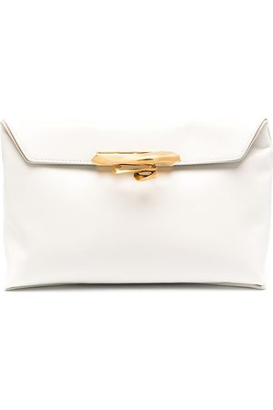 Alexander McQueen Story knuckleduster clutch bag - Neutrals