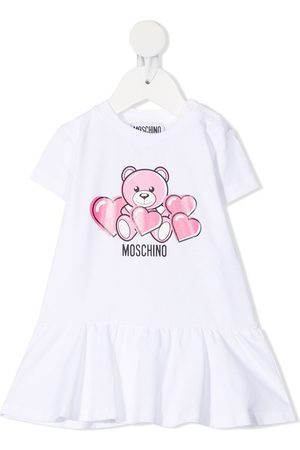 Moschino Teddy Bear-print flared dress