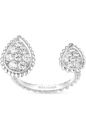 Boucheron Women Rings - 18kt white gold diamond Serpent Bohème ring
