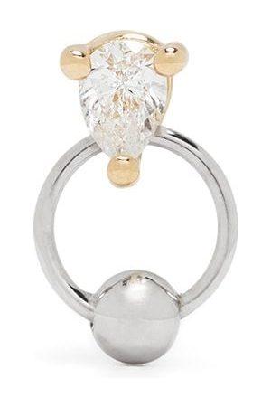 DELFINA DELETTREZ 18kt diamond Two in One piercing earring