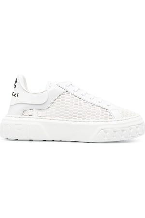 Casadei Open knit platform sole sneakers