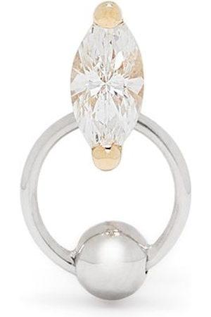 DELFINA DELETTREZ 18kt yellow diamond Two in One piercing earring