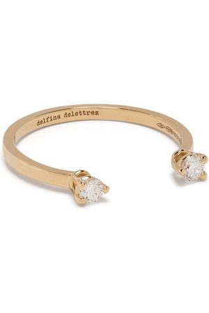 DELFINA DELETTREZ 18kt yellow diamond Dots ring
