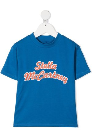 Stella McCartney Oversize logo cotton sport T-shirt