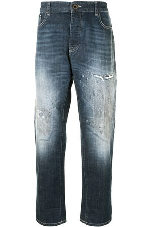 Emporio Armani High-rise faded-effect jeans
