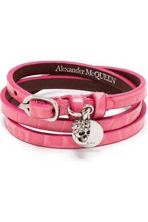Alexander McQueen Skull-motif wrap-around bracelet