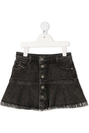 Diesel Flounced denim mini skirt - Grey