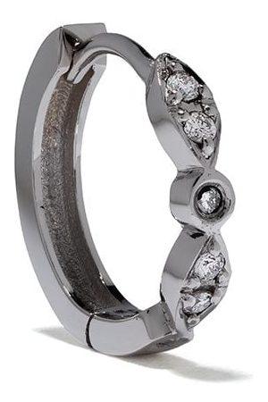 Feidt Paris Women Earrings - 18kt white gold Charniere Les Eternels diamond creole hoop