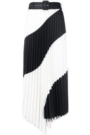 OFF-WHITE Spiral pleated midi skirt