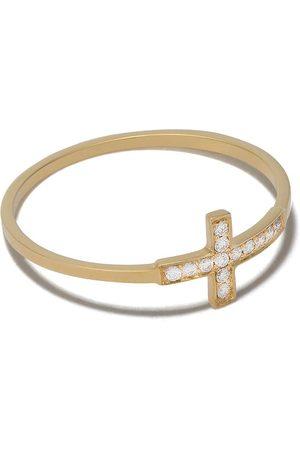 Feidt Paris 18kt yellow Les Eternels diamond cross ring