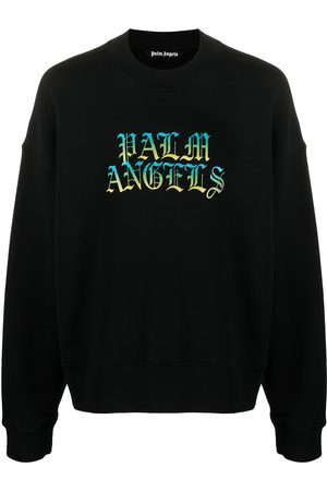 Palm Angels Hue gothic logo crewneck