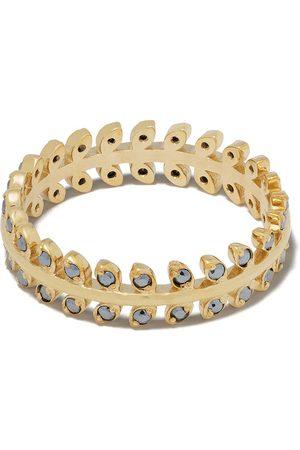 Feidt Paris 9kt yellow leaf sapphire ring