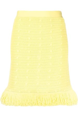 Bottega Veneta Crochet-effect A-line mini skirt
