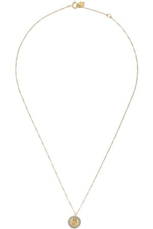Feidt Paris 9kt yellow Angel Raphael sapphire pendant necklace