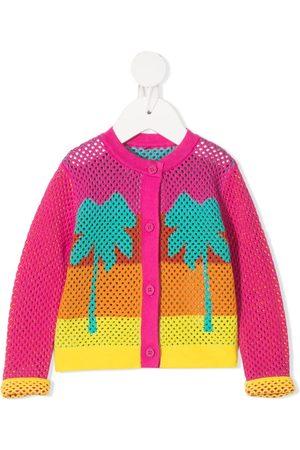 Stella McCartney Palm-tree open-knit cardigan