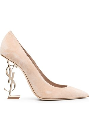 Saint Laurent Opyum YSL-heel pumps - Neutrals