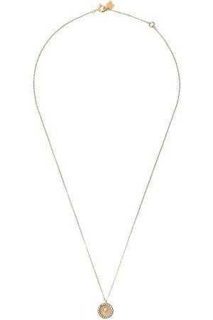 Feidt Paris 9kt yellow Madonna sapphire pendant necklace