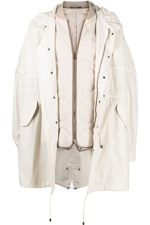 Mr & Mrs Italy Layered parka coat - Neutrals