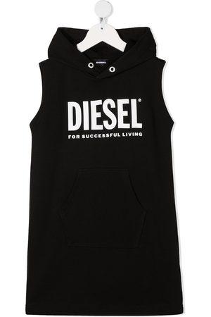 Diesel Logo print hoodie dress