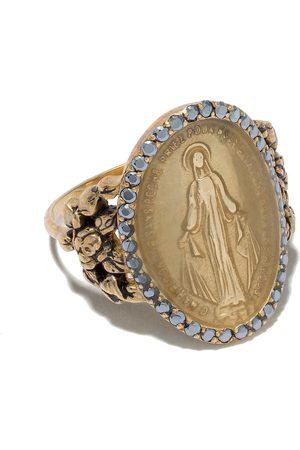 Feidt Paris 9kt yellow Madonna sapphire ring