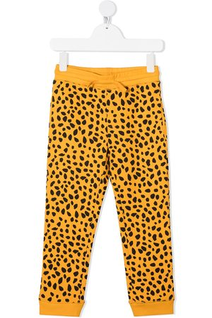 Stella McCartney Boys Sweatpants - Cheetah-print organic-cotton track trousers