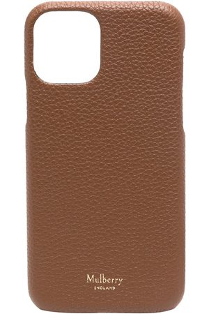 MULBERRY Pebble-texture engraved-logo iPhone 11 Pro case