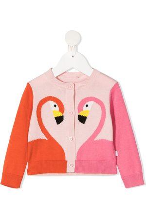 Stella McCartney Cardigans - Flamingo-intarsia organic-cotton cardigan