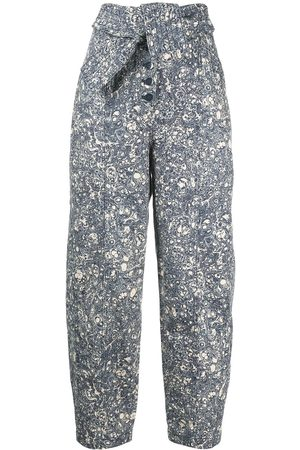 ULLA JOHNSON Otto high-rise marble jeans