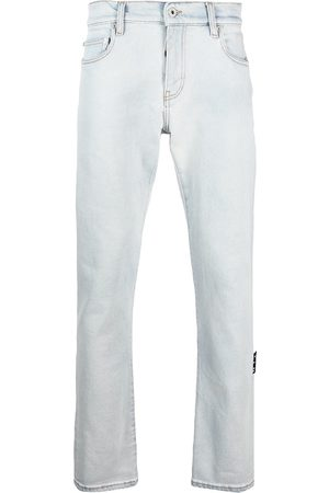 Off-White Diag-print detail jeans - Grey