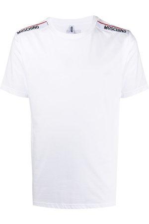 Moschino Men T-shirts - Logo-tape trim crew neck T-shirt