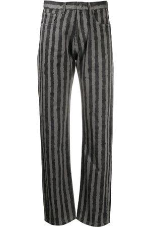 Kenzo Vertical-stripe print trousers - Grey