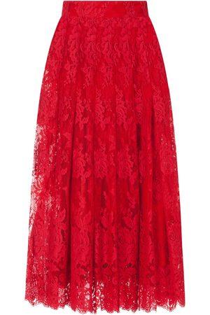 Dolce & Gabbana Women Midi Skirts - Chantilly lace midi skirt