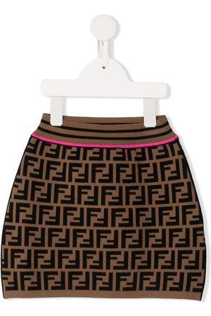 Fendi Girls Skirts - FF motif skirt