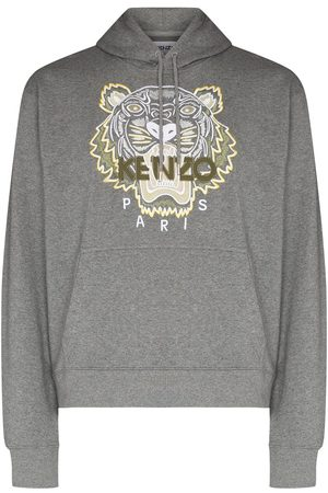 Kenzo Embroidered Tiger cotton hoodie - Grey