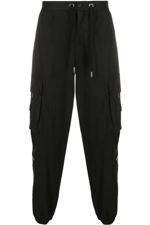 Dolce & Gabbana Logo patch cotton cargo pants