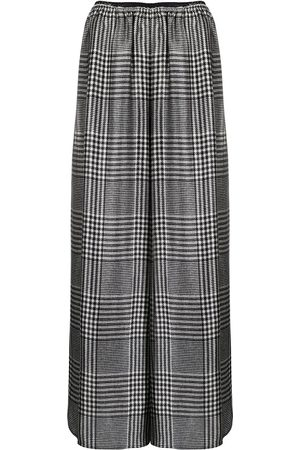 MM6 MAISON MARGIELA Houndstooth pattern palazzo trousers
