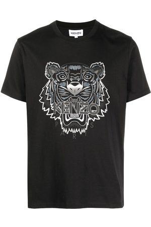 Kenzo Tiger-print logo T-shirt