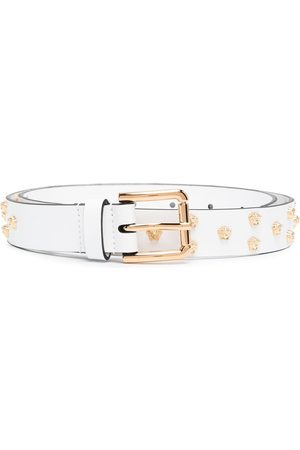VERSACE Medusa stud leather belt
