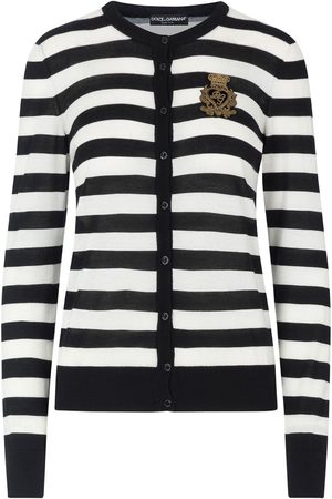 Dolce & Gabbana Appliquéd striped cardigan