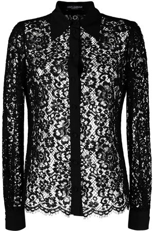 Dolce & Gabbana Floral lace sheer blouse