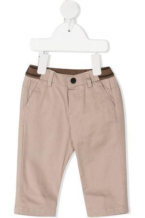 Fendi FF-logo waistband chinos - Neutrals