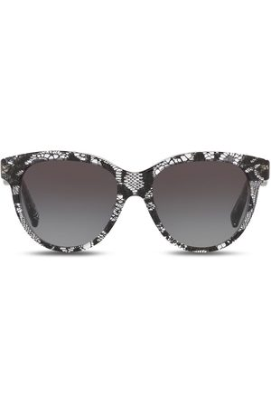 Dolce & Gabbana Lace-effect round-frame sunglasses