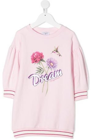 MONNALISA Girls Printed Dresses - Dream print sweatshirt dress
