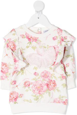 MONNALISA Floral print blouse - Neutrals