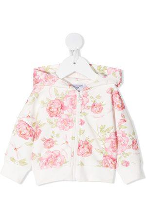 MONNALISA Floral print hoodie - Neutrals