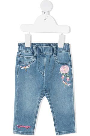 MONNALISA Embroidered floral jeans