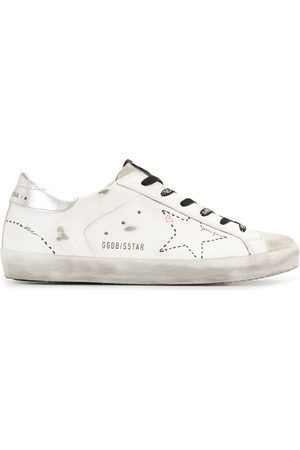Golden Goose Superstar distressed low-top sneakers