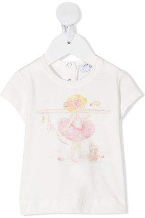 MONNALISA Ballerina print T-shirt - Neutrals