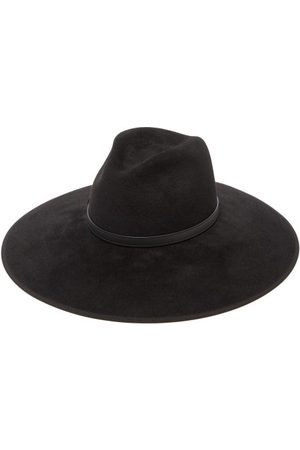 Gucci Women Hats - Horsebit Felt Fedora Hat - Womens